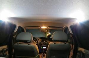 Подсветка задних пассажиров